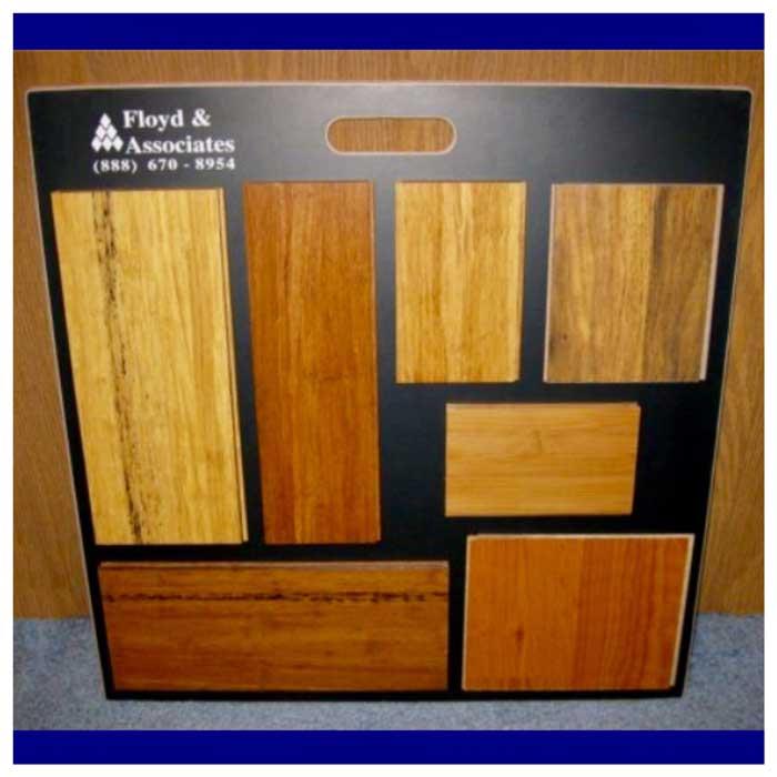 Curved Flooring Wood Sample board